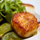 Scallops with pesto sauce